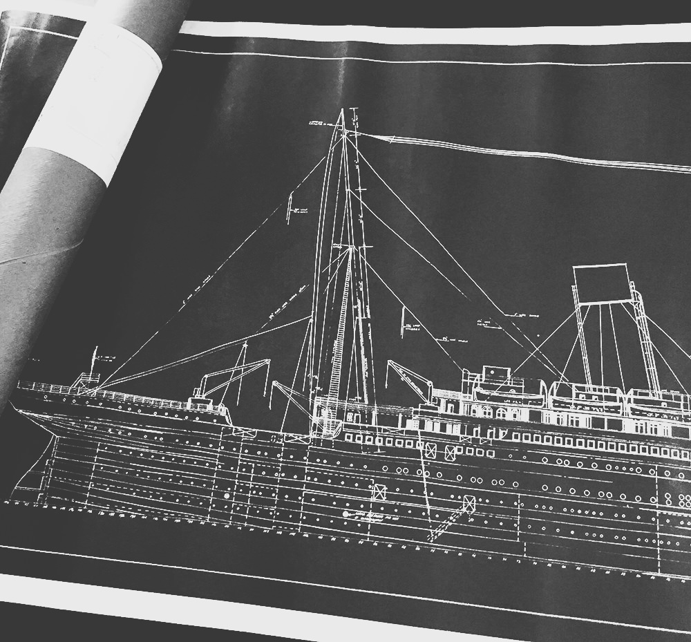 RMS Titanic Ship Blueprint